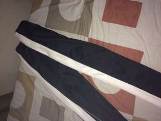 Track Pants black n white stripes