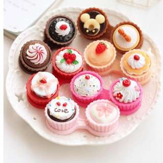 Contact lens cases (Cupcakes style)