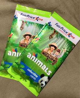 NTUC FairPrice Xtra - Animals Collectible Cards