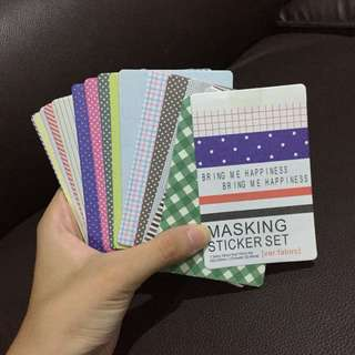Masking sticker set
