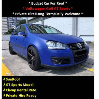Volkswagen Golf GT Sports For Rent - Daily / Private Hire Welcome