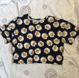 sunflower cropped top