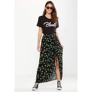 🚚 Cotton On Woven Elora Rouched Maxi Skirt