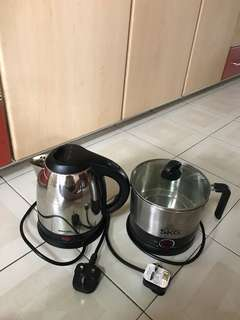SKG Electric Min. Cooker / Philips Hot Water Pod