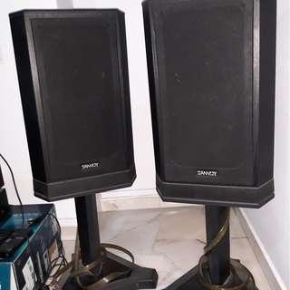 a pair of tanoy speakers 1 meter high