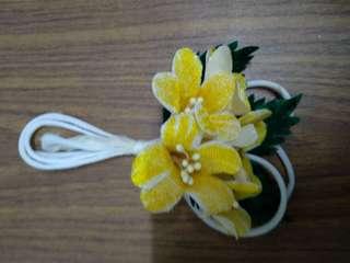 Handmade bunch of yellow flowers
