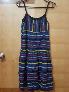 Sleeveless Colorful Stripes Dress