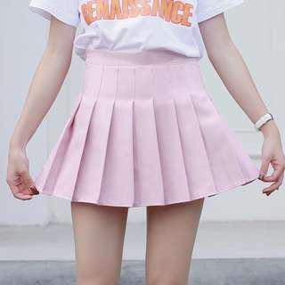 全新粉紅色百摺裙