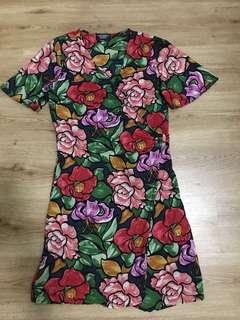 Zara Cross over summer dress size M