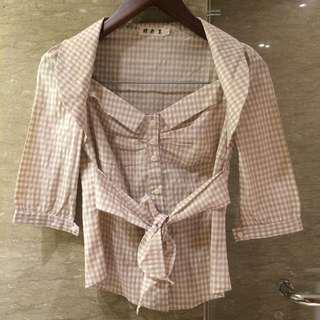 Japanese blouse with ribbon
