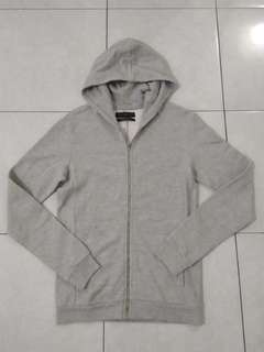 hoodie zara man original sz M grey mulus