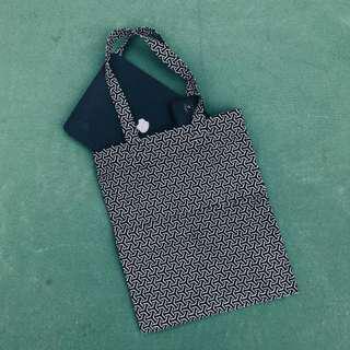 Canvas Double Pocket Tote Bag