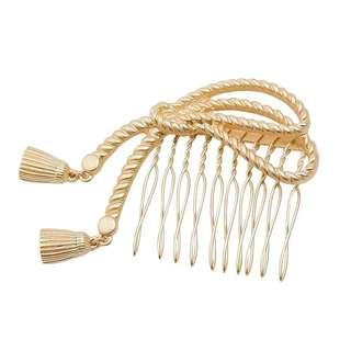 Japanese Gold Ribbon Hair Comb Pins
