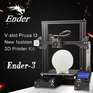 Creality 3D CR-Ender3 3D Printer - DIY Design, 0.1mm Accurate, LCD Display, 220x220x250mm Printing Volume, G-Code (CVAJL-G919)