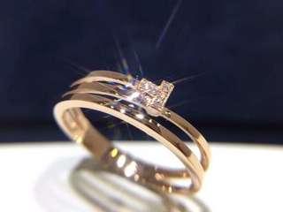 18k玫瑰金鑽石戒指個性款中性🎁特別推薦