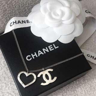 AUTHENTIC CHANEL CC Heart Necklace