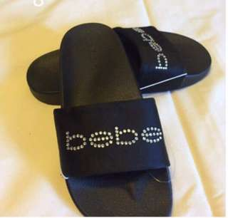 Authentic Bebe slides ( no box ) 😍 Size 6