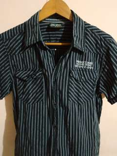 Paddock's Jeans Black Striped Polo