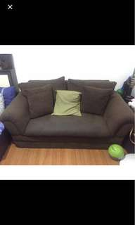 Rush!!  2 seater sofa with 4 throw pillows