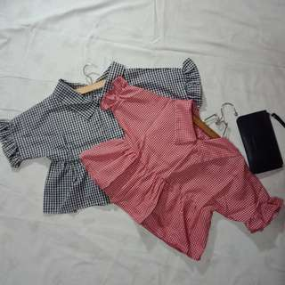 CHECKERED BLOUSES (200 each)