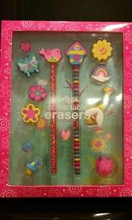 BNIB Smiggle Collectable erasers set