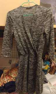 Mango one piece dress- Grey