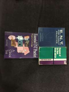 Medical student ENT textbooks