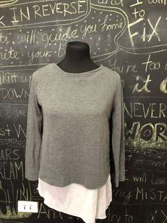 Gray Sweater Long Top