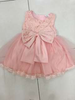 Princess Dress peach colour 90