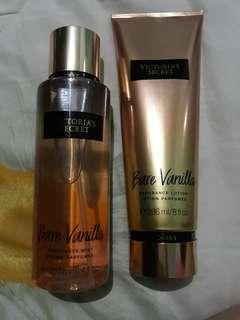 Victoria's Secret Bare vanilla  set