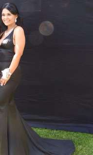 Abby's unleashed black gown size small. Prom dress!!! Price is negotiable!