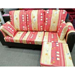 L-SHAPE SOFA 3 SEATER MURAH