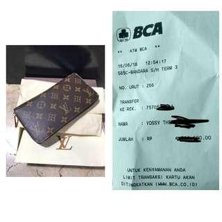 SOLD OUT Louis vuitton zippy wallet monogram