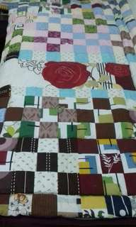 Bed Cover Kain Perca
