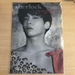 (全新) SHINee 鐘鉉官方Sherlock文件夾