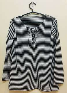 Black And White Stripes Long sleeves