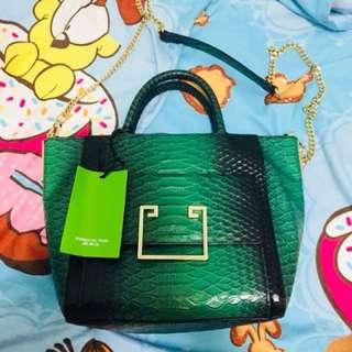 Shanghai Tang Snake Skin Bag