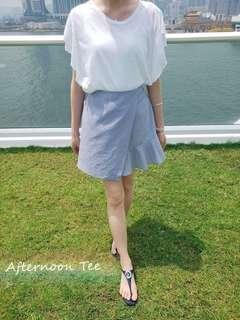 ♡韓國 簡約素面蝴蝶袖top