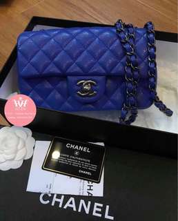 CHANEL MINI RECTANGULAR BLUE ELECTRIC ❗️❗️❗️ Rare ❗️❗️❗️