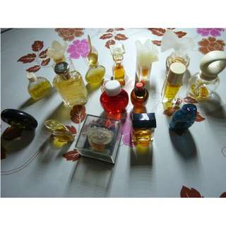 Rare Vintage miniature travel perfume bottles from the 80's and 90's