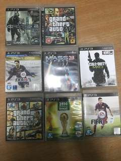 Ps3 Games ( sell only) can nego