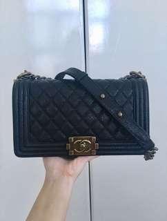 Chanel Boy Bag (aged-gold hardware)