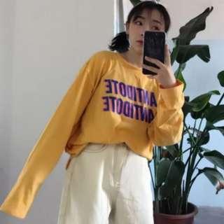 PO Ulzzang long sleeve printed shirt