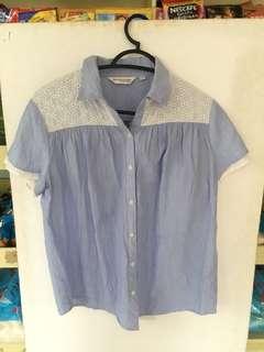 Blue buttoned blouse