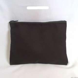 black canvas pencil case