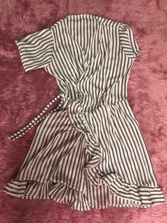 Stripes Wrap-around Dress