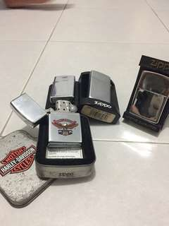 Zippo and harley davidson lighter