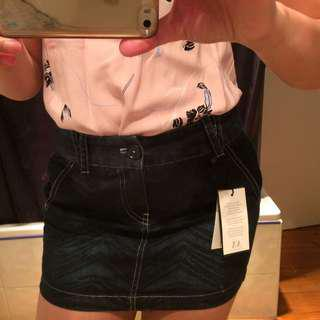 BNWT ARMANI Jeans Denim Mini Skirt
