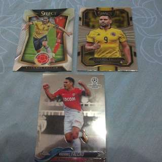 Radamel Falcao Topps/Panini trading cards for sale/trade (Lot of 3 cards)