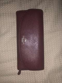 Coach burgundy leather wallet purse